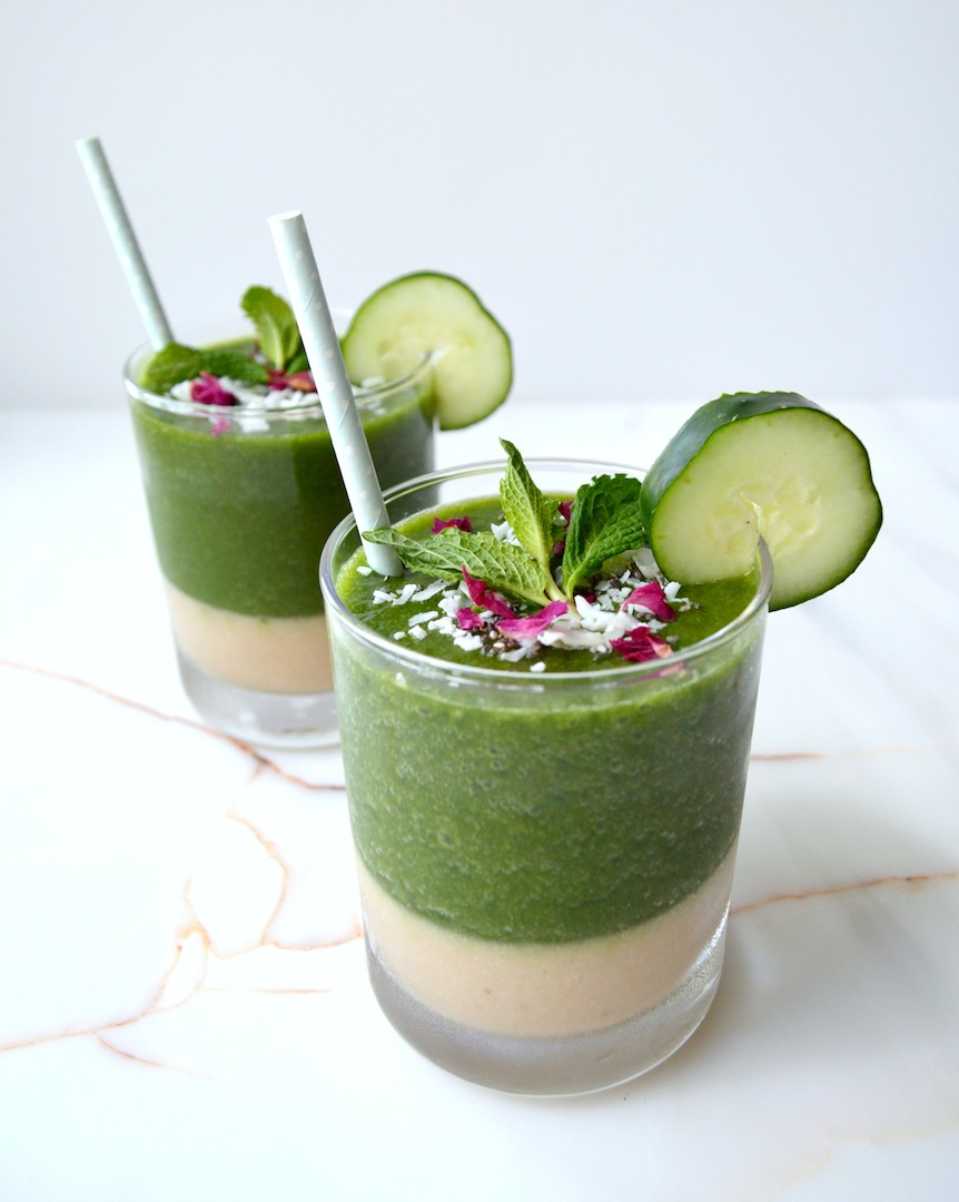 Melon Mint & Cucumber Smoothie