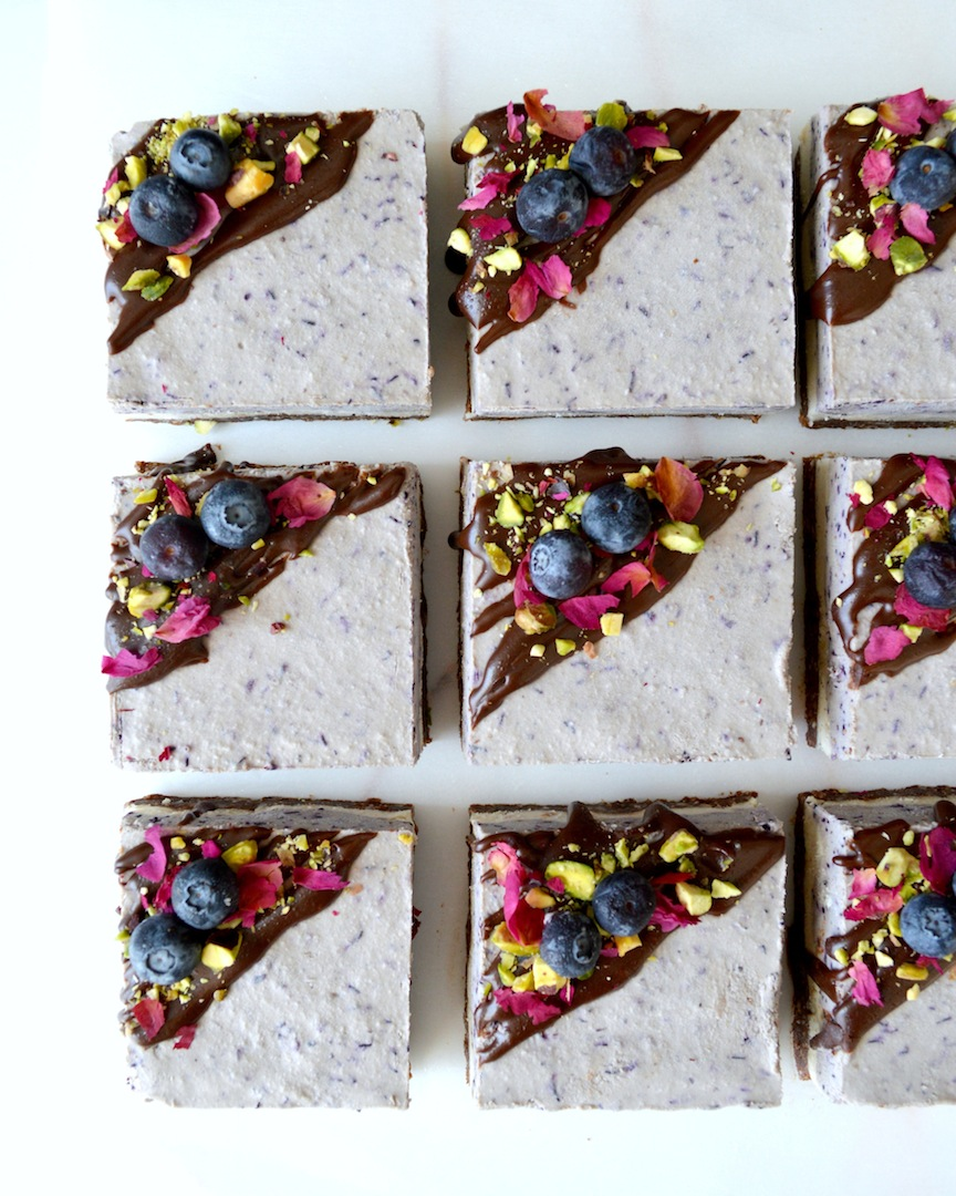 Blueberry Dream Bars with Chocolate Hazelnut Crust