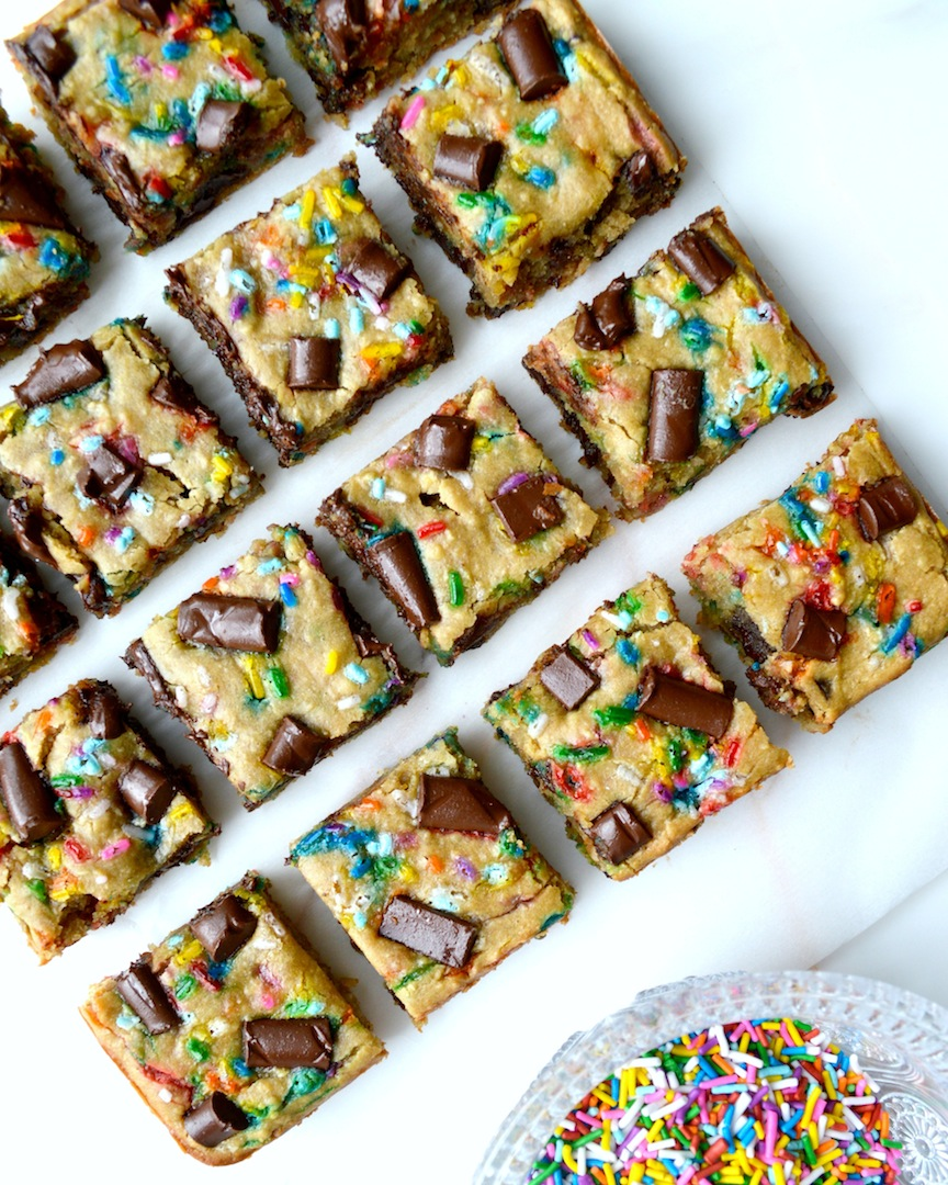 Funfetti  Chocolate  Chunk  Chickpea  Blondies