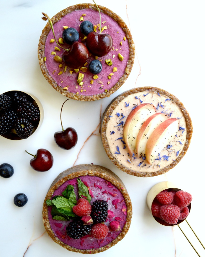 Blackberry,  Cherry,  and  Peach  Summer  Tarts  (Raw,  Vegan) by Plantbased Baker