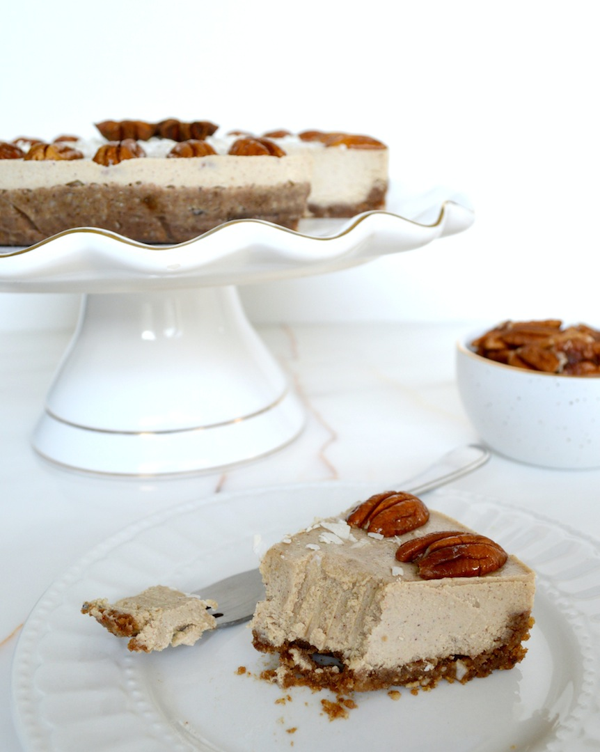Vanilla Chai Pecan Pie (Raw, Vegan)  by Plantbased Baker