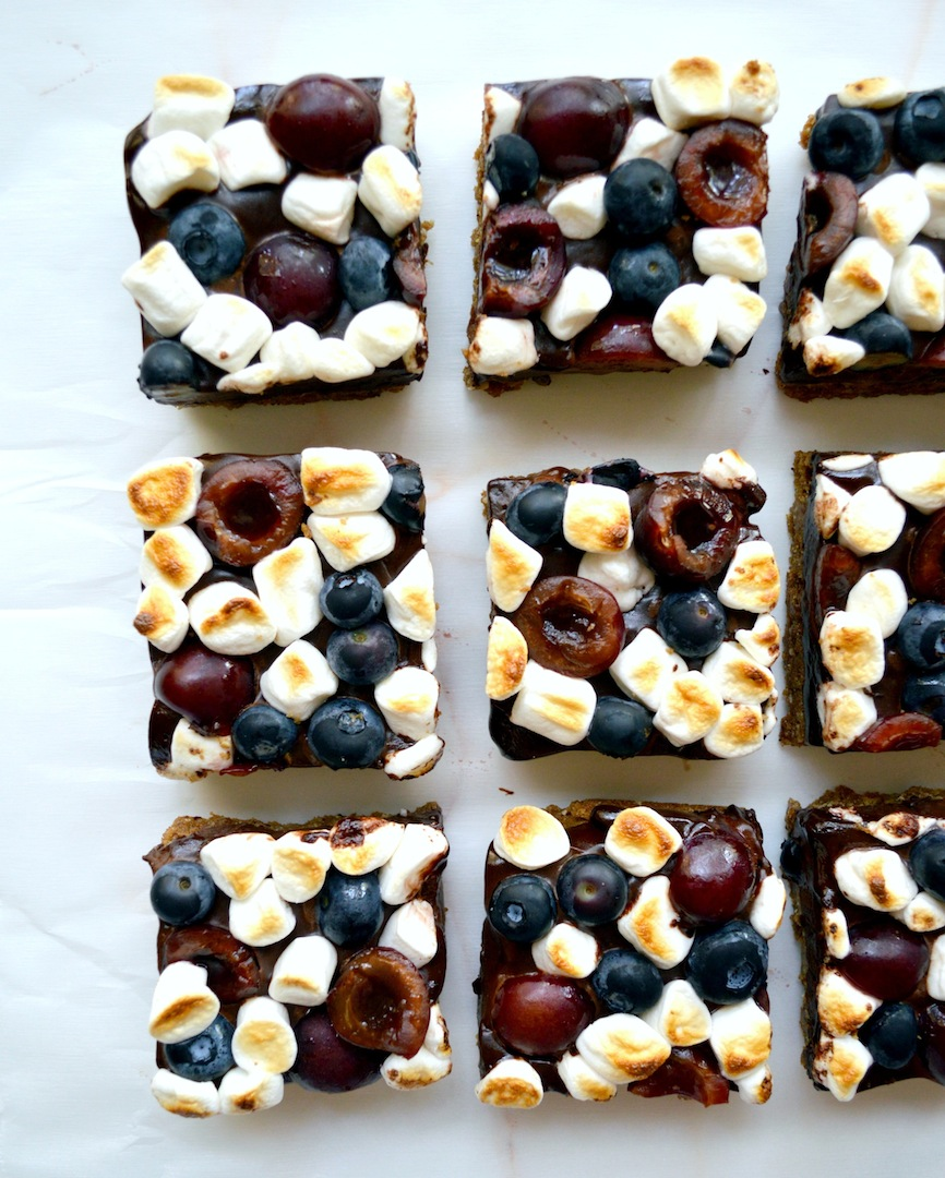 Berry Cherry S'mores Bars