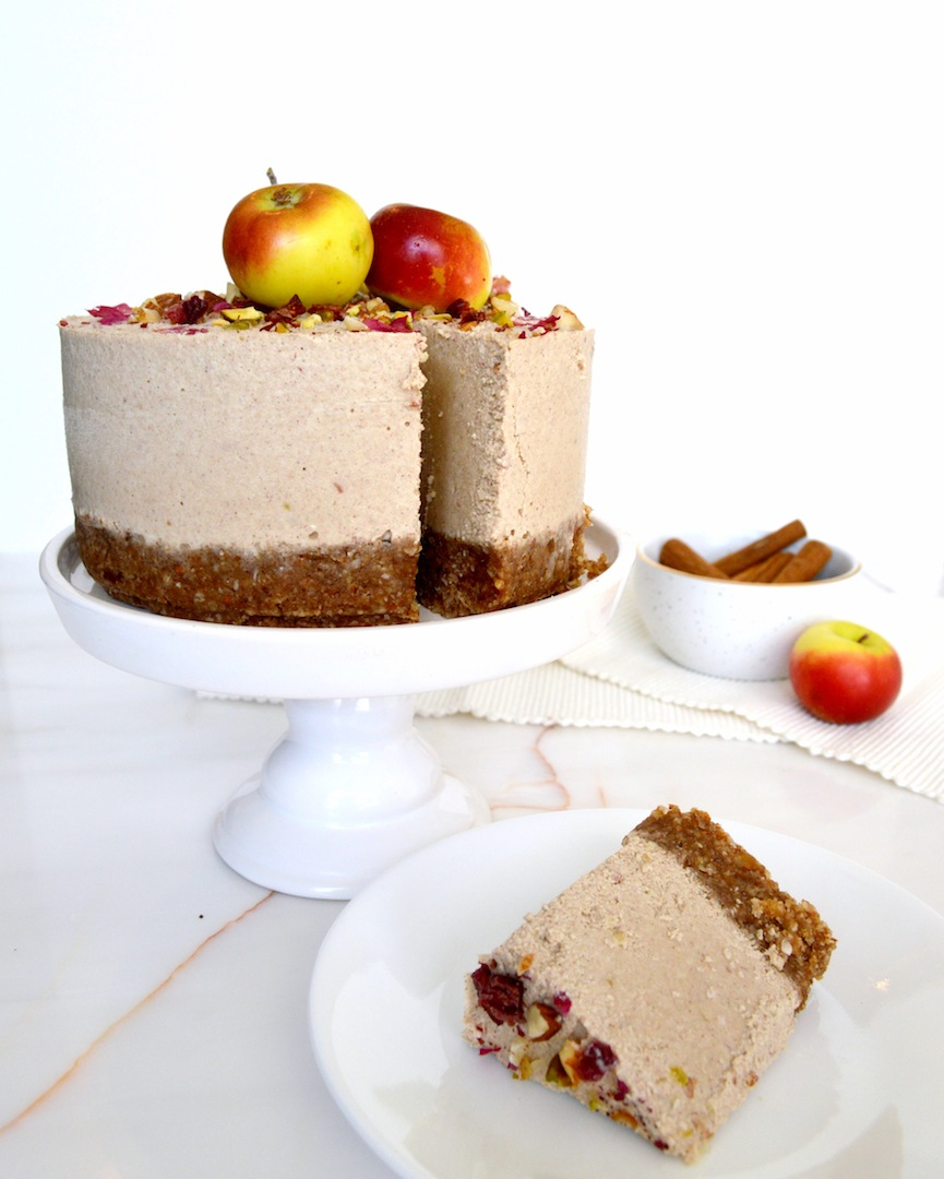 Cinnamon Apple Cheesecake (Raw, Vegan)  by Plantbased Baker