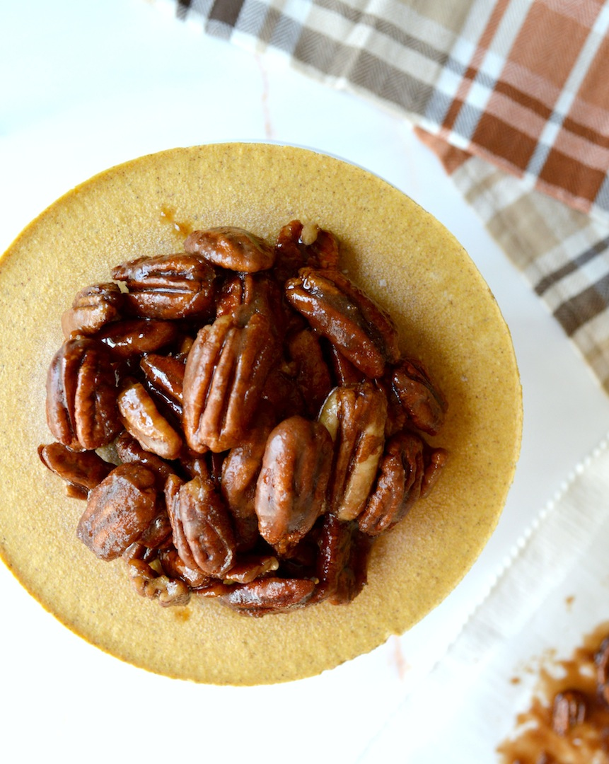 Pumpkin  Praline  Cheesecake  (No-Bake,  Vegan) by Plantbased Baker